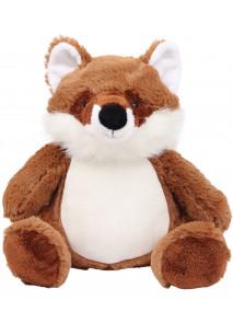 Zipped fox cuddly toy