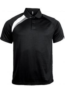 Kids' short-sleeved sports polo shirt