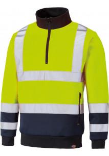 HI-VIS sweatshirt with trucker neck