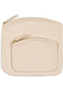 Pouch with zip fastening