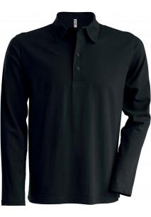 Men's long-sleeved jersey polo shirt