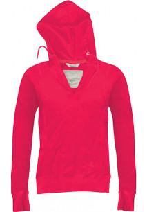 Ladies' long-sleeved hooded T-shirt