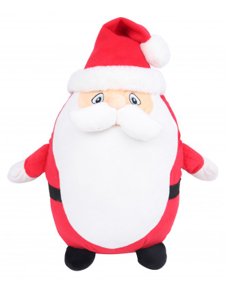 Zipped Santa cuddly toy