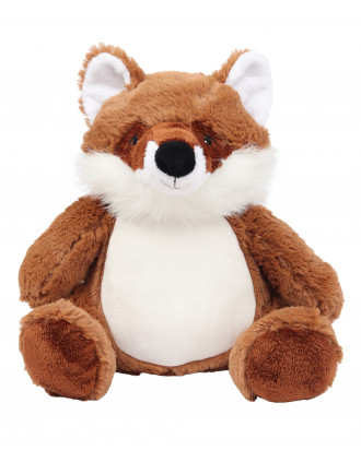 Zipped fox cuddly toy