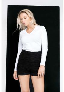 Ladies' long-sleeved V-neck T-shirt
