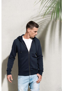 Men's organic full zip hooded sweatshirt