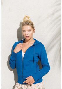 Ladies' organic full zip hooded sweatshirt