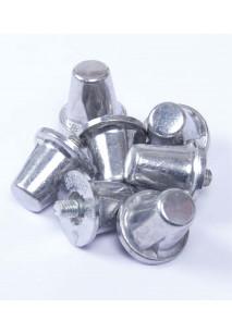 Pack of 100 Conical Aluminium Studs