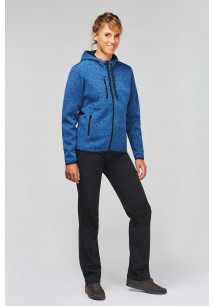 Ladies' heather hooded jacket