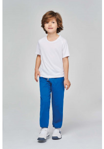 Kids' lightweight cotton tracksuit bottoms