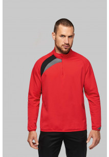 Adults' zip neck training top