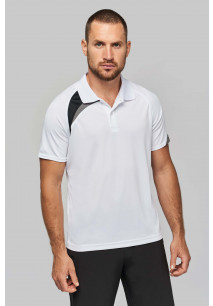 Adults' short-sleeved sports polo shirt