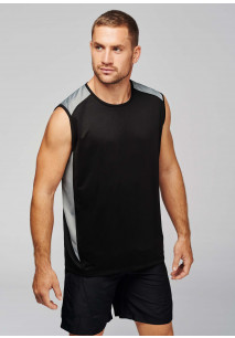 Two-tone sports vest