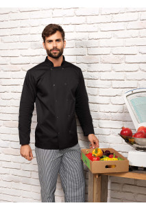 Long-Sleeved Press Stud Chef's Jacket