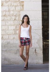 Ladies' tartan frill shorts