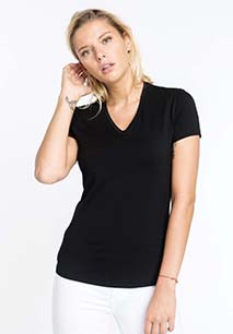 Electra > Ladies' short-sleeved V-neck T-shirt