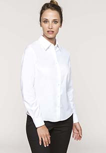 Ladies' long-sleeved Oxford shirt