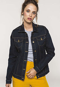 Ladies' unlined denim jacket