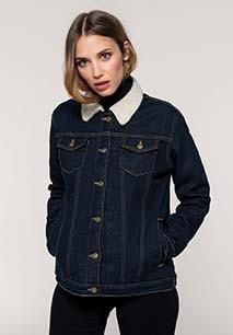 Ladies' sherpa-lined denim jacket