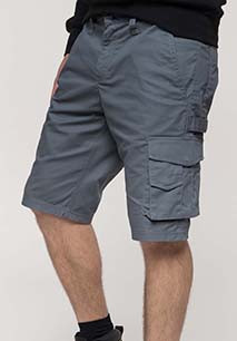 Multi pocket workwear Bermuda shorts