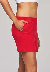 Ladies' jersey sports shorts