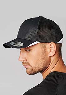 Sports cap with mesh - 6 panels