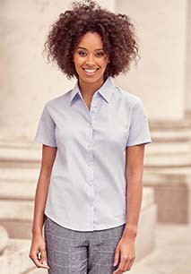 Short-Sleeved Ladies' Oxford Shirt