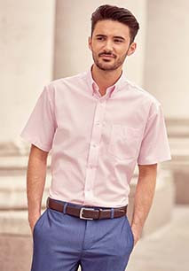 Short-Sleeved Men's Oxford Shirt