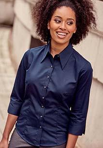 Ladies' 3/4 Sleeved Tencel Shirt