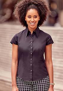 Ladies' Cap Sleeve Tencel Shirt