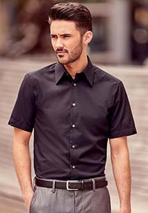Men's Short-Sleeved Tencel Fitted Shirt