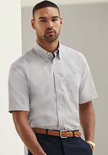 Men's Short-Sleeved Oxford Shirt (65-112-0)