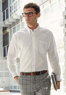 Men's Long-Sleeved Oxford Shirt (65-114-0)
