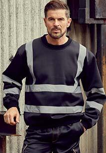 Hi-Vis crew neck Sweatshirt