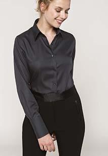 Ladies' long-sleeved non-iron shirt