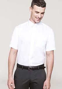 Men's short-sleeved non-iron shirt