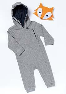Babies' hooded romper
