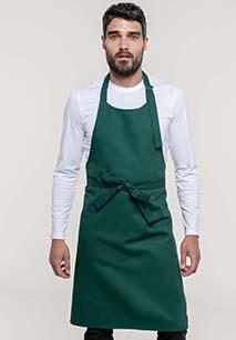 Cotton apron without pocket