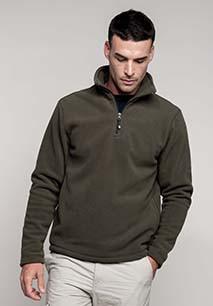Enzo > Zip neck microfleece jacket