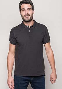Men's vintage short sleeve polo shirt