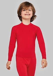 Kids' long-sleeved base layer sports T-shirt