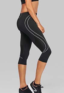 Ladies' 3/4 length running tights