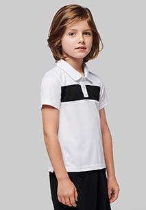 Kids' short sleeve polo shirt