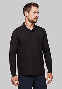 Adult Cool Plus® long sleeve polo shirt