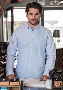LONG-SLEEVED WASHED OXFORD SHIRT