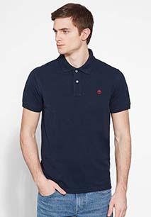 Organic piqué short-sleeves polo shirt