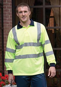 High Visibility Long Sleeve Polo Shirt