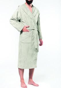 Velour hooded bathrobe