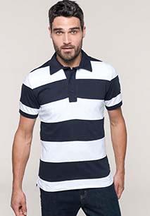 Ray > Short-sleeved striped polo shirt