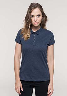 Ladies' short sleeved jersey polo shirt